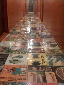 Great floor for sliding! Also useful for reading when the singer is bored because it's all about the bass and drums.